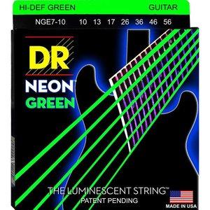 DR Strings NGE7-10 Snaren Neon Green Medium 7-String
