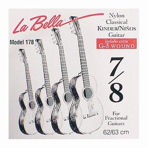 La Bella 178 Nylon gitaarsnaren Fractional 52-63cm