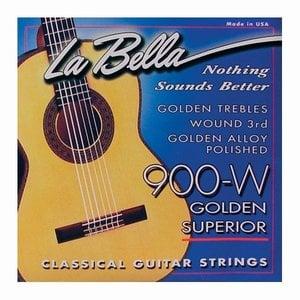La Bella 900W Nylon gitaarsnaren Golden Superior Wound 3rd