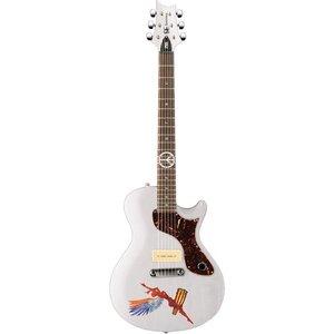PRS SE One Abraxas Santana Elektrische gitaar Whitewash