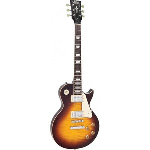 Vintage V100IT Elektrische gitaar Flamed Iced Tea