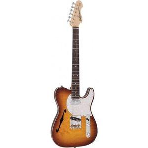 Vintage V72FTB Elektrische gitaar Flame Tobacco Burst