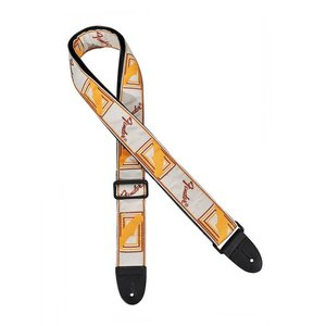 Fender Monogram Gitaarband White-brown-yellow
