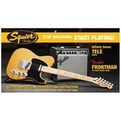 Squier Affinity Tele met Fender Frontman 15G Elektrische gitaarset Butterscotch Blonde