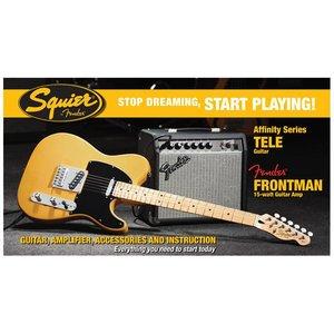 Squier Affinity Tele met Fender Frontman 15G Butterscotch Blonde
