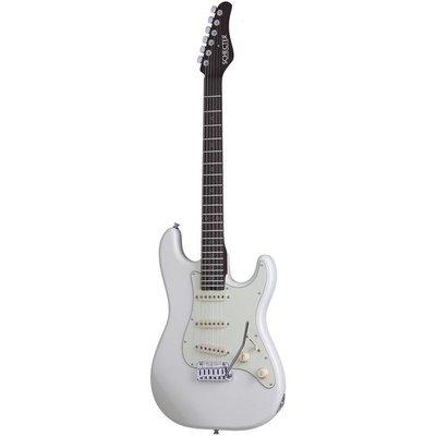 Schecter Nick Johnston Traditional Elektrische gitaar Atomic Snow +Case