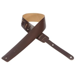 Levy's M1-DBR Gitaarband Dark Brown 2.5-Inch Leather