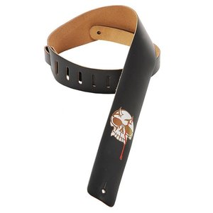 Levy's M1BS-BLK Gitaarband Black 2.5-Inch Leather Skull and Dripping Blood