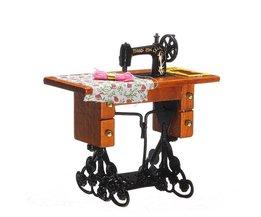 Máquina de coser de casa Vintage de muñecas 1:12