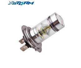 Lámpara H7 LED de la viruta del Cree Auto DC 12V ~ 24V de 360 grados 20 SMD niebla del coche de las luces de estacionamiento de luz blanca de fuentes externas Lampochka Bombillas XSTORM