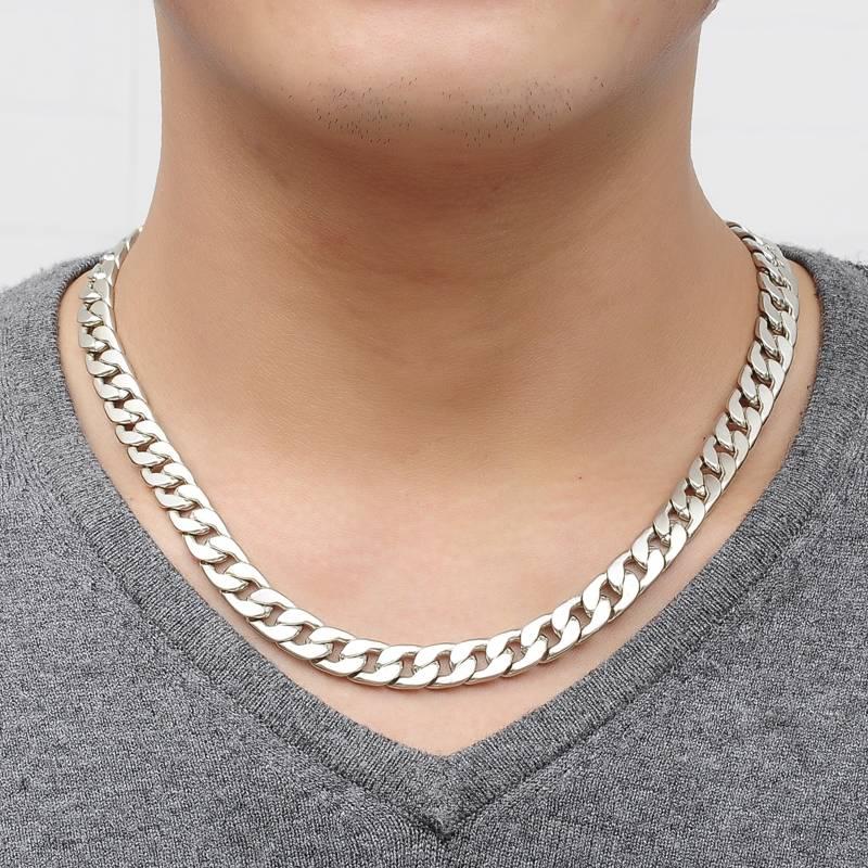 Enlace vendimia del collar joyería de la aleación de cadena de plata ...