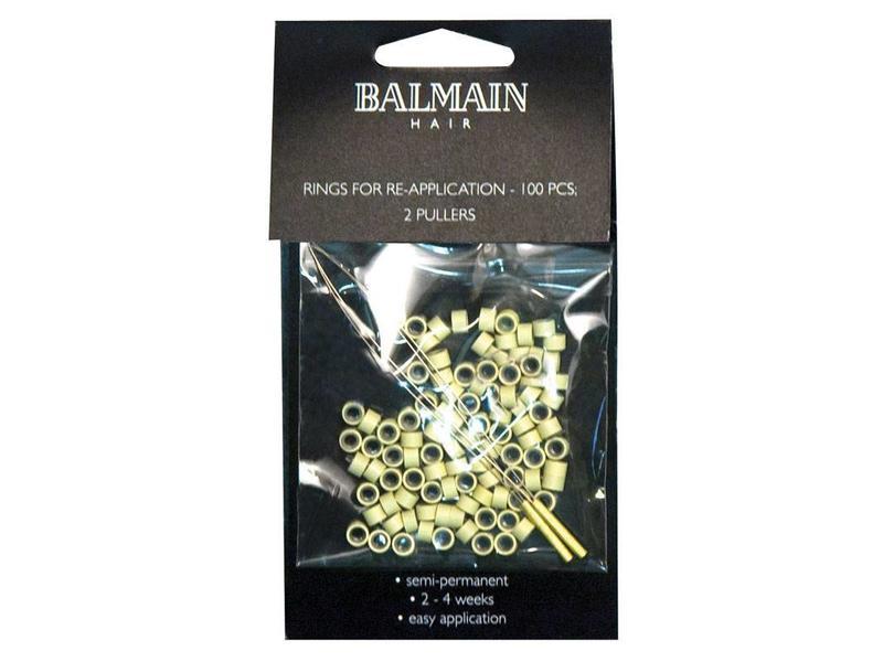 Balmain Micro Rings Beige 100 stuks