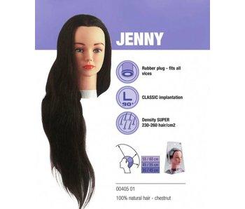 Sibel Oefenhoofd Jenny kastanjebruin -100% menselijk haar + gratis Eco Statief