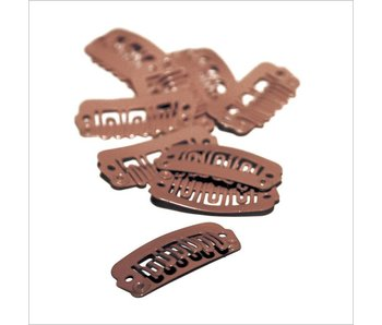 Balmain Double Hair Clips Brown 10 stuks