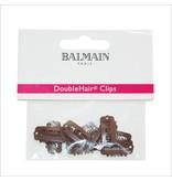 Balmain Double Hair Clips Brown 10 stuks