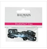 Balmain Double Hair Clips Black 10 stuks