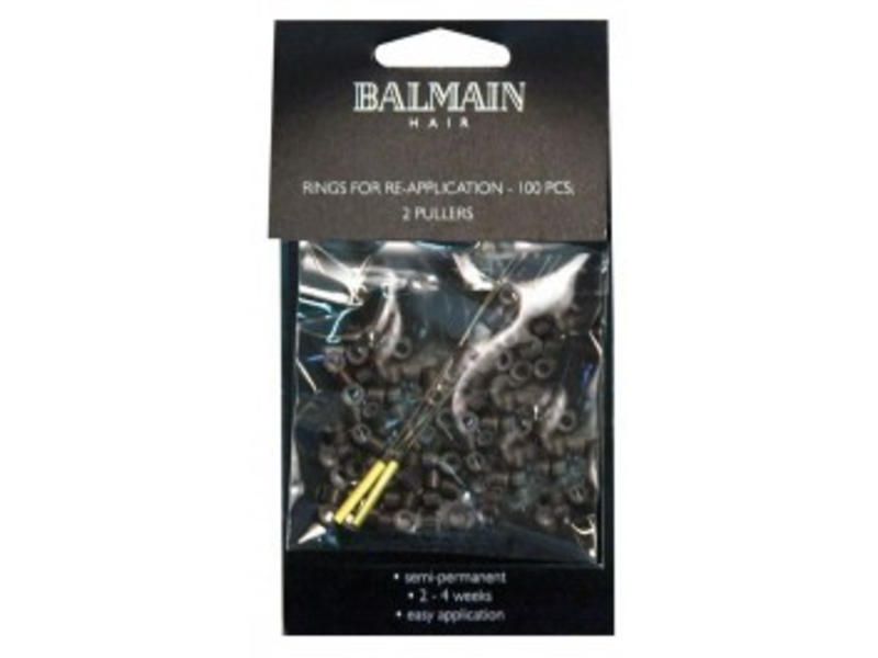 Balmain Micro Rings Brown 100 stuks