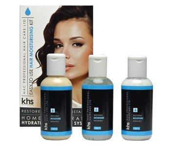 KHS Keratin Home System Moisturizing Hair System Kit ( Blauw )
