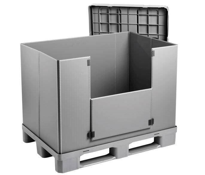 Plastic Sleeve Pack 1200x800x940 mm 3 Runners, closed  pallet deck