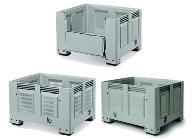Rigid pallet containers