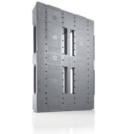 Industrie-Pallet 1200x800x150 mm , 3 onderlatten, Semi-Gesloten