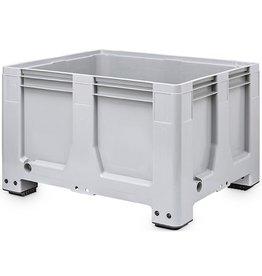 Maxilog® Pallet boxes 1200x1000x760 closed walls, 4 feet