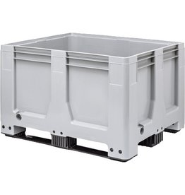Maxilog® Pallet boxes 1200x1000x760 closed walls, 3 runners
