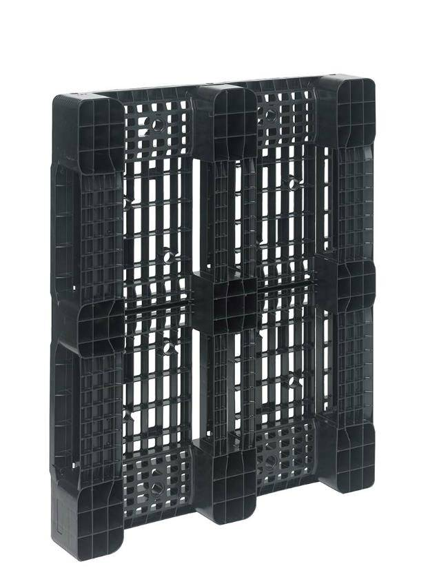 Plastic Blockpallet • 1200x1000x150 • with 3 runners • open deck