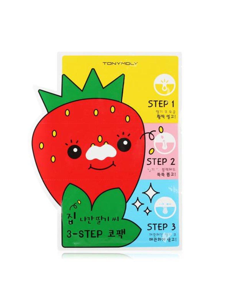 Tony Moly Tony Moly - Strawberry Seeds 3-step Nose Pack