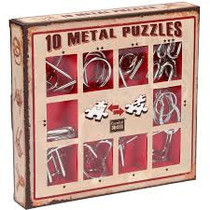 10 Metal Puzzles (rood)