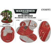 Sector Imperialis: 60mm Round Bases, 75mm & 90mm Oval Bases (3x6)