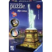 3D Puzzle: Vrijheidsbeeld met licht (Night Edition)