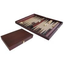 Backgammon Koffer Hout gelakt 35x23 cm Roodbruin
