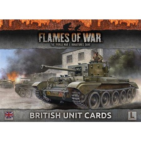 Battlefront Armies of Late War: British Unit Cards