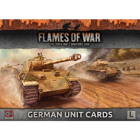 Battlefront Armies of Late War: German Unit Cards