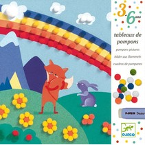 Pompomschilderijen: Droomwereld