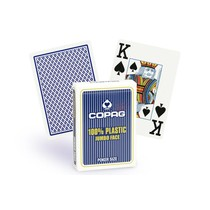 Copag 100% plastic Poker jumbo faces - 2 index blauw
