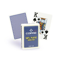 Copag 100% plastic Poker jumbo faces - 2 index blauw
