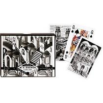 Speelkaartenset Escher Up & Down dubbel Piatnik