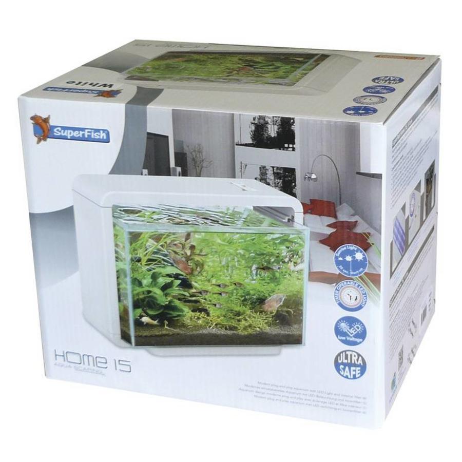 Aquacompleet   Superfish home 15   wit   LED - Aquacompleet