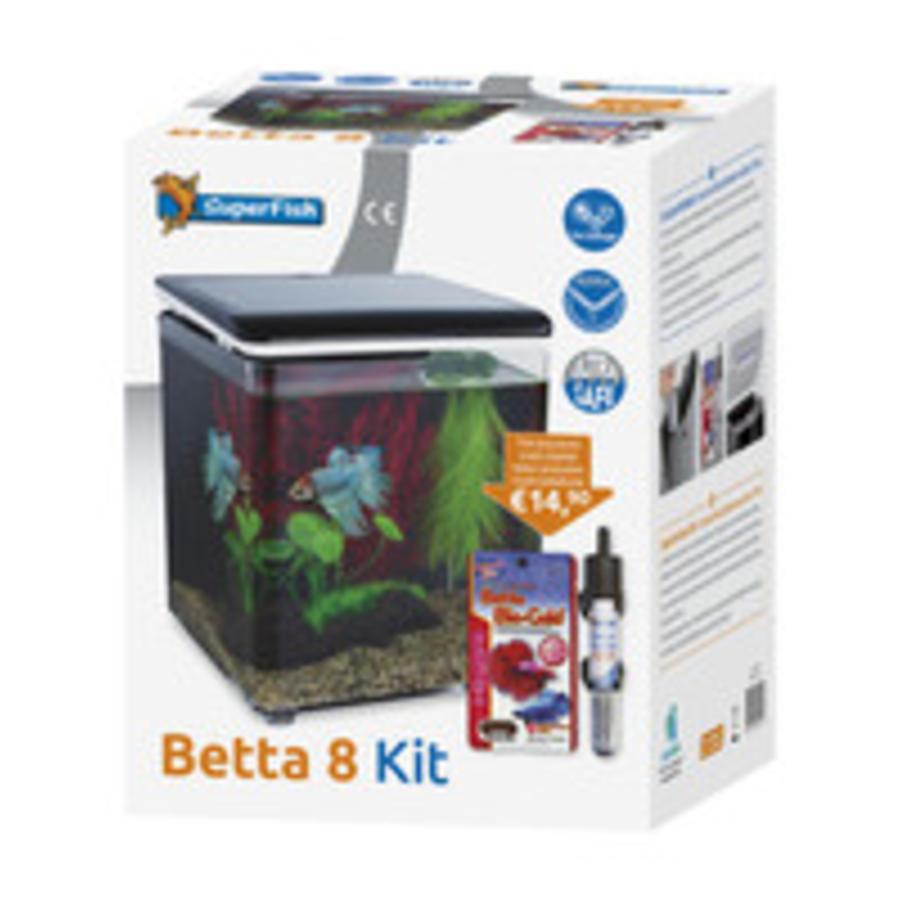 SuperFish Betta 8 aquarium zwart-2