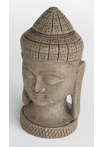 Zen deco buddha face