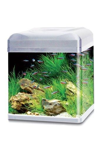 HS Aqua aquarium lago 30 LED zilver