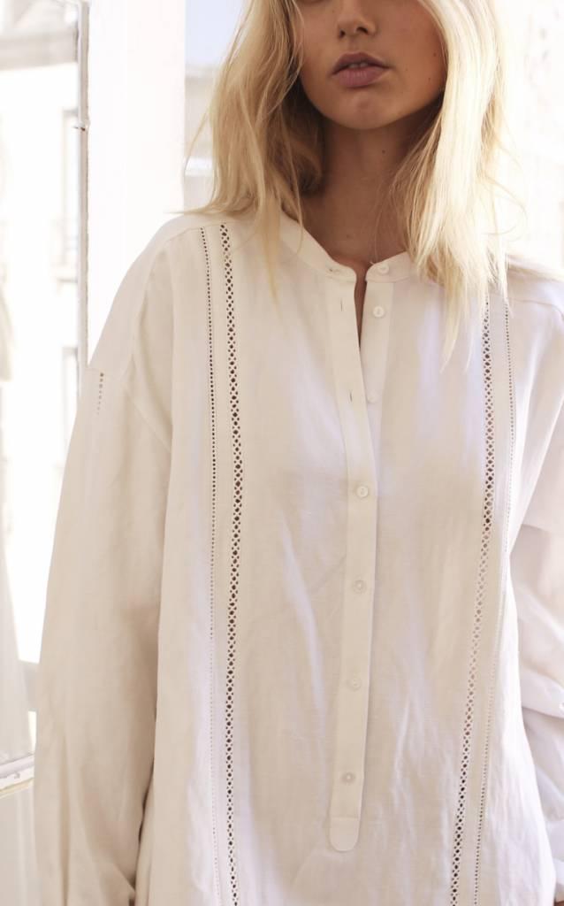 La Collection Julietta linen-silk dress white