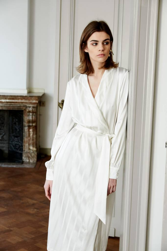 La Collection Eleni dress off-white