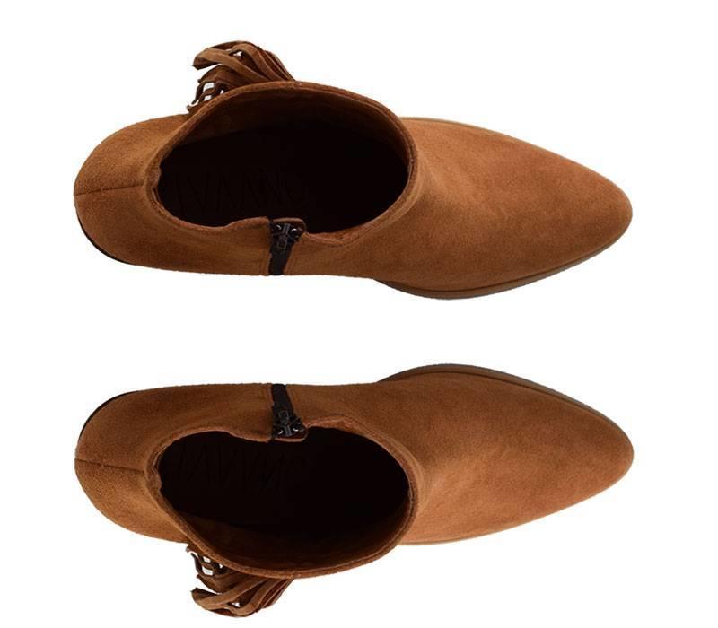 Brown fringed ankleboot Juliet