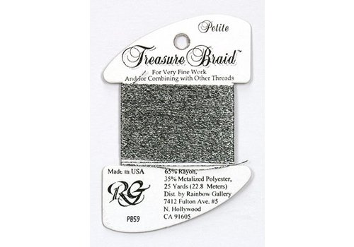 Rainbow Gallery Treasure Braid Black Silver