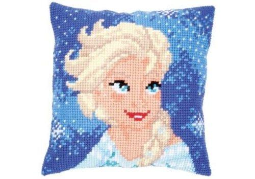 Vervaco Frozen: Borduurkussen Elsa