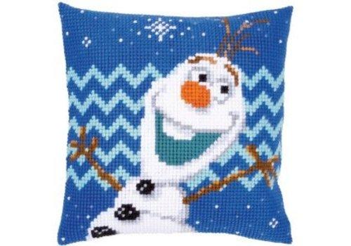 Vervaco Frozen: Borduurkussen Olaf