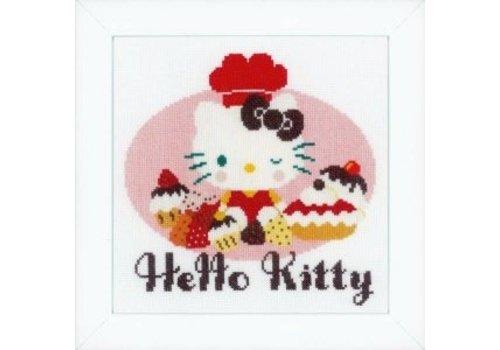 Vervaco Hello Kitty Ik bak taartjes II